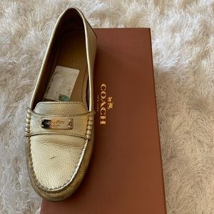 Coach Shoes - ❤️Coach gold loafers❤️